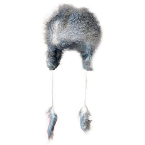 1 czapka uszatka futrzana szara marki Kiddy