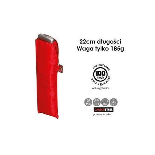 parasol unisex, slim czerwony poliester 722631dro super cienki i lekki! składany marki Doppler