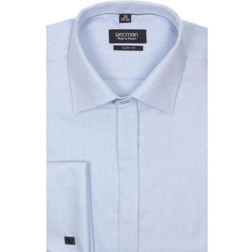 Koszula versone 2293 na spinki slim fit niebieski