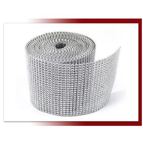 Taśma z cyrkoniami srebrna 3 cm / 9,1mb - TC3S