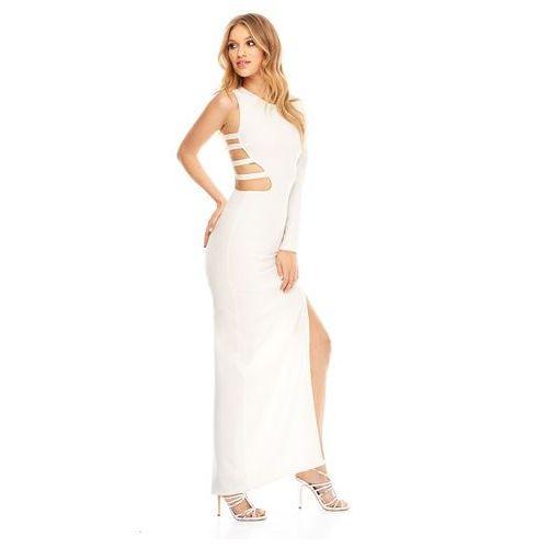 Sukienka Vika w kolorze kremowym, kolor beżowy