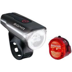 SIGMA SPORT Aura 60 USB/Nugget II Zestaw oświetlenia czerwony/czarny 2019 Oświetlenie rowerowe - zestawy