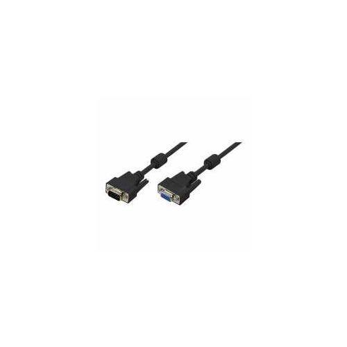 Przedłużacz VGA LogiLink CV0019 VGA 2x Ferryt 10m, CV0019