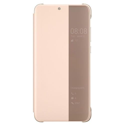Etui HUAWEI Smart View Flip Cover do Huawei P20 Różowy, 51992357