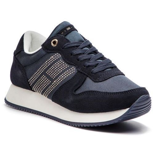 a08506dd4635 Tommy Hilfiger Tommy hilfiger Sneakersy - sparkle satin city sneaker  fw0fw03991 midnight 403