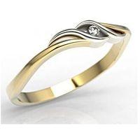 Węc - twój jubiler Pierścionek zaręczynowy z żółtego i białego złota z cyrkoniami lp-9306zb