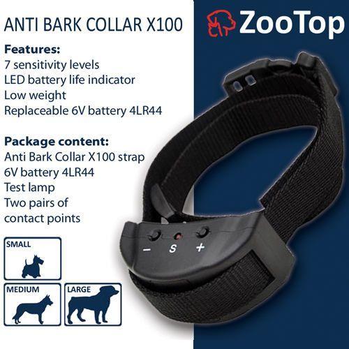 ZooTop X100 Elektryczna obroża antyszczekowa dla psa