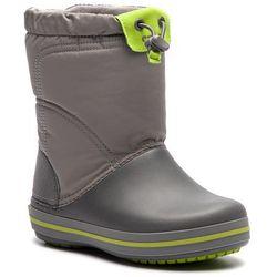 Śniegowce CROCS - Crocband Lodgepoiont Boot K 203509 Smoke/Graphite, kolor szary