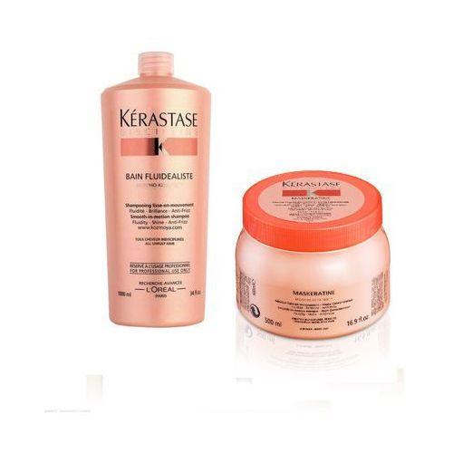 Fluidealiste | zestaw dyscyplinujący włosy: szampon 1000ml + maska 500ml Kerastase