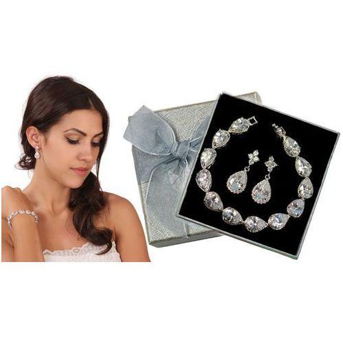 Mak-biżuteria Kpl875 komplet ślubny, biżuteria ślubna z cyrkoniami b599/425 k599/565