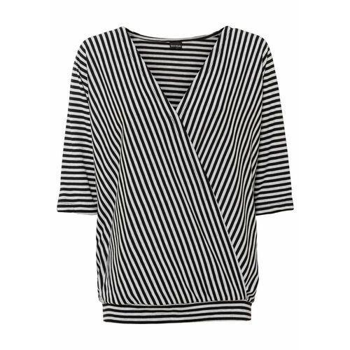 Bluzka bez rękawów bonprix biały, kolor czarny