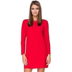 127e916da6af9d Tessita. Tessita Czerwona sukienka elegancka z plisą na przodzie. 139.90 zł  · Infinite You. Czerwona Elegancka Wzorzysta Sukienka Midi z Szerokim Dołem  ...