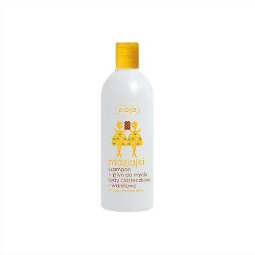 Ziaja Maziajki - szampon i płyn do mycia dla dzieci lody ciasteczkowo-waniliowe - 400 ml