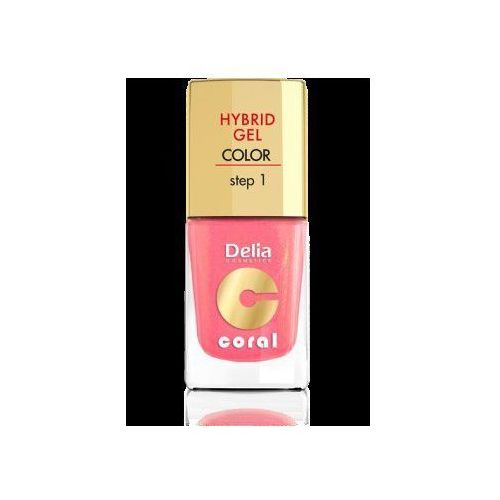 Cosmetics coral hybrid gel emalia do paznokci nr 16 ciepły średni róż 11ml Delia