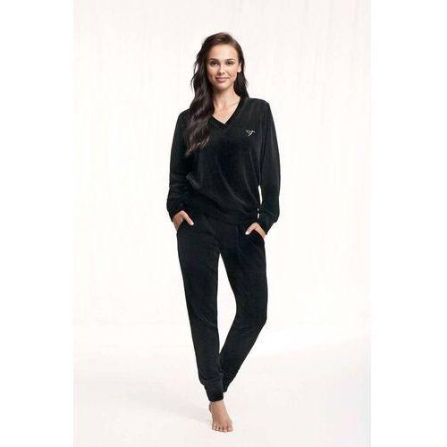 Dres damski homewear luna 306 dł/r s-2xl rozmiar: xl, kolor: czarny/nero, luna, kolor czarny
