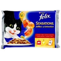 sensations multipak w galaretce wołowina i kurczak 4x100g marki Felix