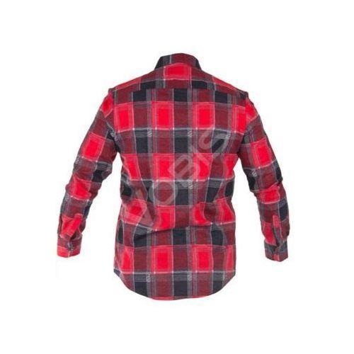 """Koszula flanelowa czerwona, 120g/m2, """"l"""", ce, Lahti"""