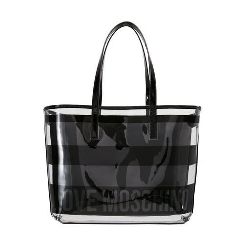 Love Moschino TRANSPARENT LOGO BEACH BAG Torba na zakupy nero, kolor czarny