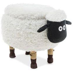 Pufa zwierzak - - owieczka oliwia ii z pojemnikiem - biały marki Signal