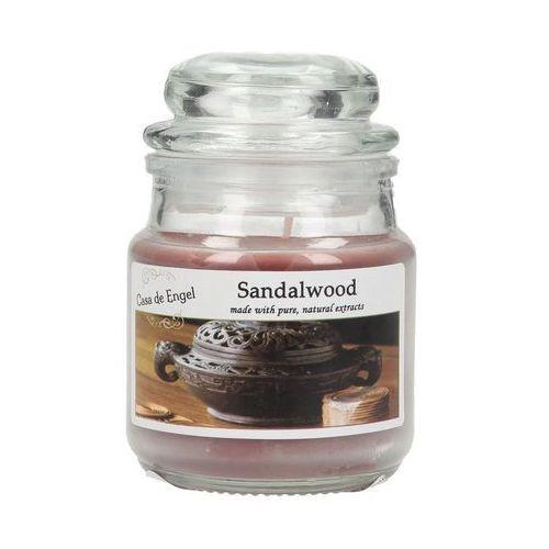 Dekoria świeca zapachowa sandalwood 80g, 6x6x8,5cm