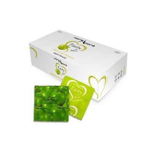 More amore Sexshop - jabłkowe prezerwatywy moreamore condom tasty skin apple 50 sztuk - online