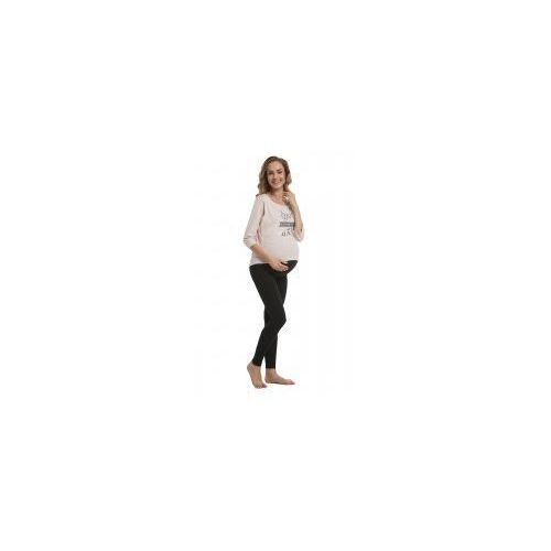 Legginsy Getry Ciążowe z Panelem Czarne, kolor czarny