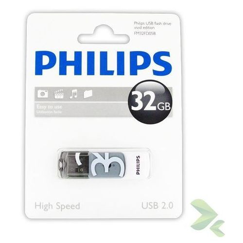Philips Pendrive USB 2.0 32GB - Vivid Edition (szary)