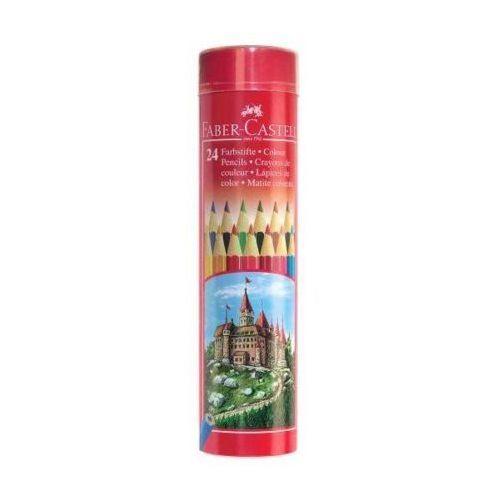 Kredki zamek 24 kolory met.tuba marki Faber castell