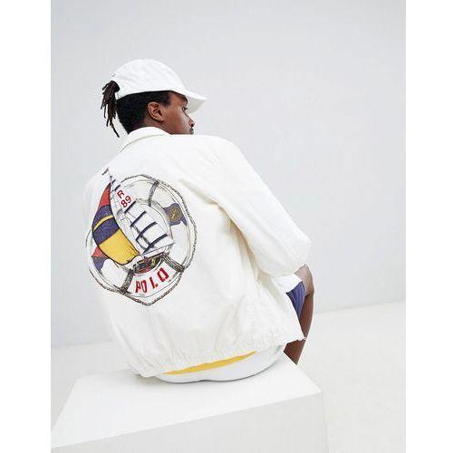 5627f0ead8e Polo ralph lauren cp-93 capsule back sailboat logo print harrington jacket  in cream -