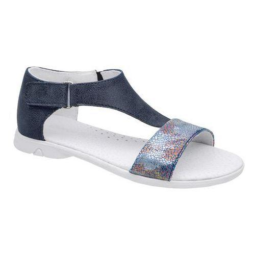 Sandałki dla dziewczynki KORNECKI 4750 Granatowe Niebieskie Mullti - Granatowy ||Niebieski