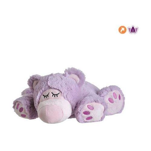 Warmies ® fioletowy śpiący miś