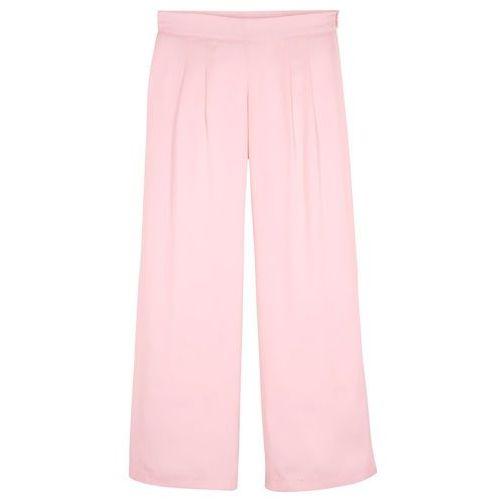 Spodnie dziewczęce palazzo na uroczyste okazje bonprix pastelowy jasnoróżowy, kolor różowy