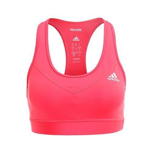 Adidas Performance TECHFIT SOLID Biustonosz sportowy core pink/matte silver