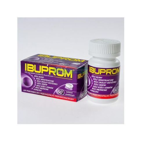 Tabletki Ibuprom 200mg 50 tabletek