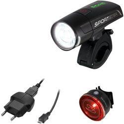 zestaw lampek rowerowych sigma sportster + mono rl black marki Sigma
