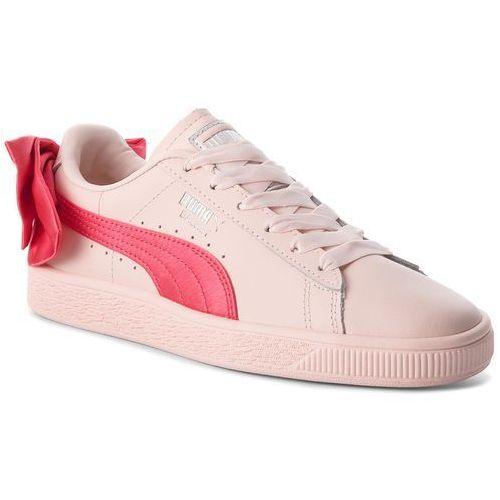 849a1e18 Zobacz w sklepie Puma Sneakersy - basket bow jr 367321 02 paradise  pink/paradise pink