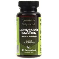 Kapsułki Pharmovit Buzdyganek naziemny Ekstrakt 4:1 200 mg 90 kapsułek - suplement diety