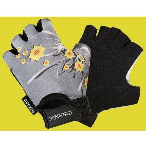 Rękawiczki dziecięce daisy popielate wzór kwiaty xs marki Accent
