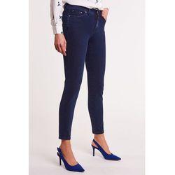 Ciemnoniebieskie, piaskowane jeansy PAMELA, jeans