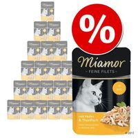 Miamor 24 x 100 g feine filets w saszetkach w super cenie! - 4 smaki, mieszany pakiet