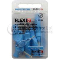 TANDEX Flexi 6szt. BOX 0.60-3.0mm (NIEBIESKIE) - pudełko 6 szczoteczek międzyzębowych (extra-fine)