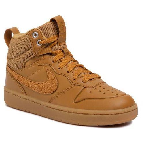 Buty NIKE - Court Borough Mid 2 Boot (GS) BQ5440 700 Wheat/Wheat Gum Med Brown, kolor brązowy