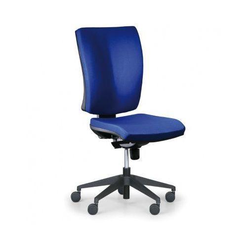 Krzesło biurowe Leon PLUS, niebieski - bez podłokietników