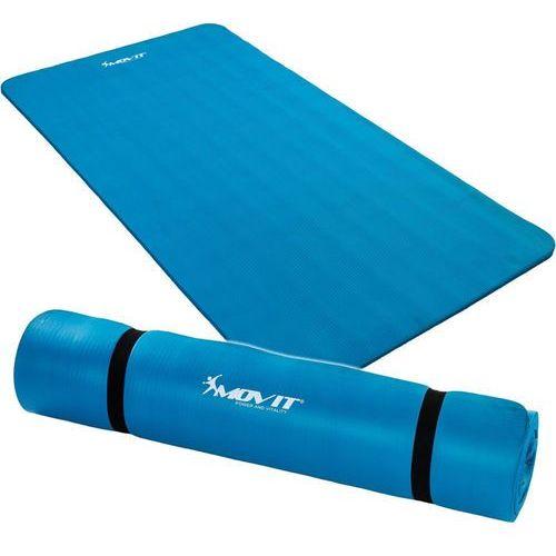 Niebieska mata piankowa 190x100x1,5cm do ćwiczeń / gimnastyki / fitness marki Movit ®