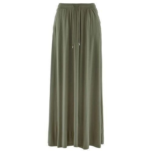 Spódnica z dżerseju oliwkowy marki Bonprix