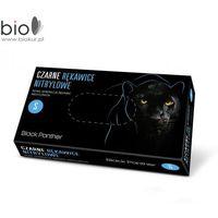 Doman Rękawice nitrylowe black panther bezpudrowe czarne rozmiar s - 100 szt