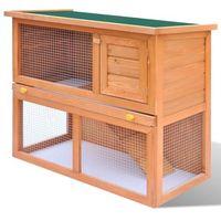 Vidaxl drewniana, zewnętrzna klatka dla królika z drzwiczkami (8718475871866)