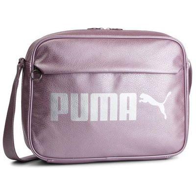9b25b74fbce34 Torba PUMA - Campus Reporter 075005 07 Elderberry/Puma Silver/Metal, kolor  różowy eobuwie.pl
