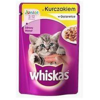 WHISKAS Junior Kurczak w galaretce - saszetka 24x100g (4770608239817)