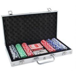 Zestaw do Pokera...: 300 Żetonów + Kości + Karty + Kuferek...,